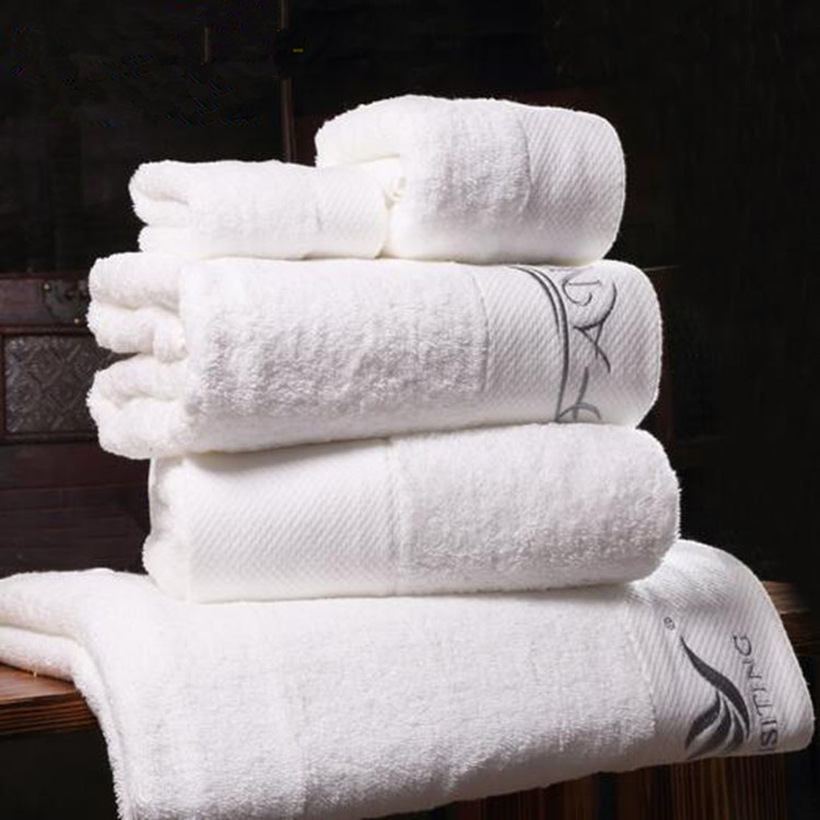 White Bath Towels Suit,100%Cotton Bath Towel Baoding
