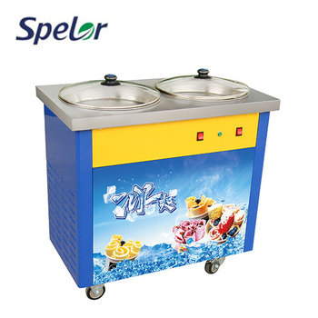 Cooling Faster Fried Ice Cream Roll Maker Machine