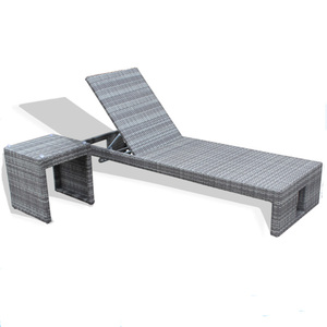 Classic Rattan Adjustable Garden Sun Lounger