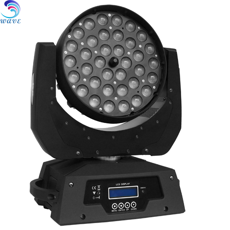Quiet 36x10w Rgbw 4in1 Led Zoom Wash Moving Head