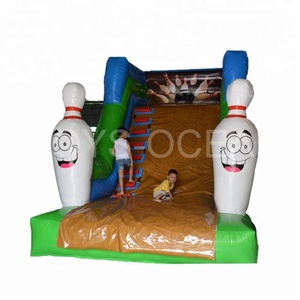 Indoor Mini Inflatable Bowling Theme Slide For Kids
