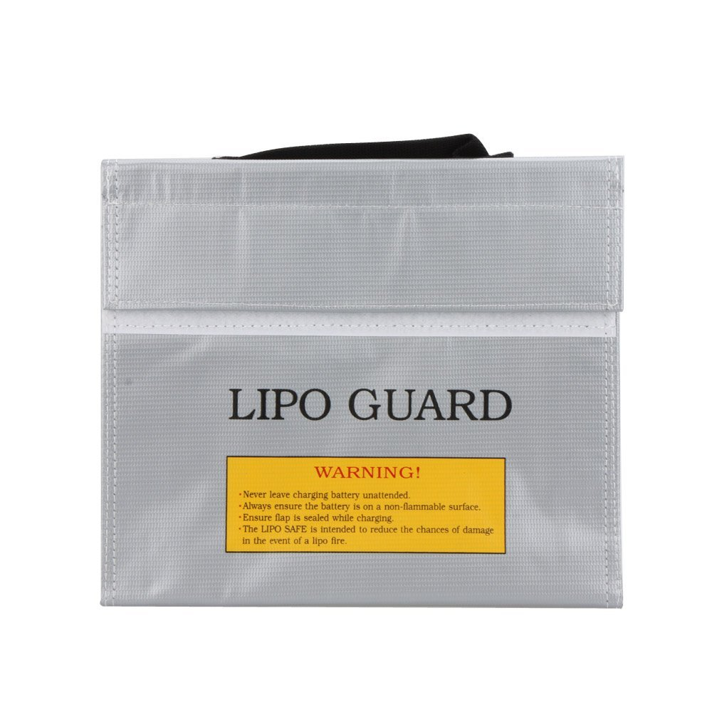 EverTrust(TM)High Quality RC LiPo Battery Safety Bag Safe Guard Charge Sack 22 * 18 * 5.5 cm Silver