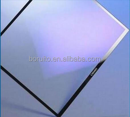 5mm anti glare LCD glass Panel with black silk screen printing frame