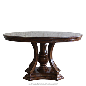 hot sale antique furniture wooden round dining table