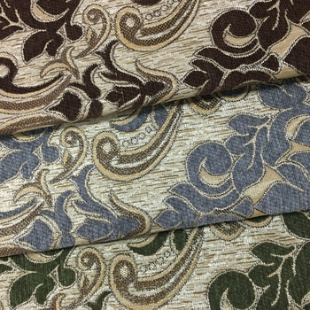 Grey Color Jacquard Chenille Upholstery Arabic Fabrics And Textiles