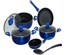 9pcs aluminum nonstick cookware set cooking pot set