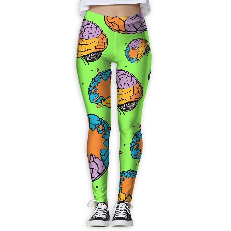 b9ee4a8074949 Sodika Women's Yoga Pants Lobes of Brain Colortone Women's 3D Printed  Legging Cute Legging Yoga Pant
