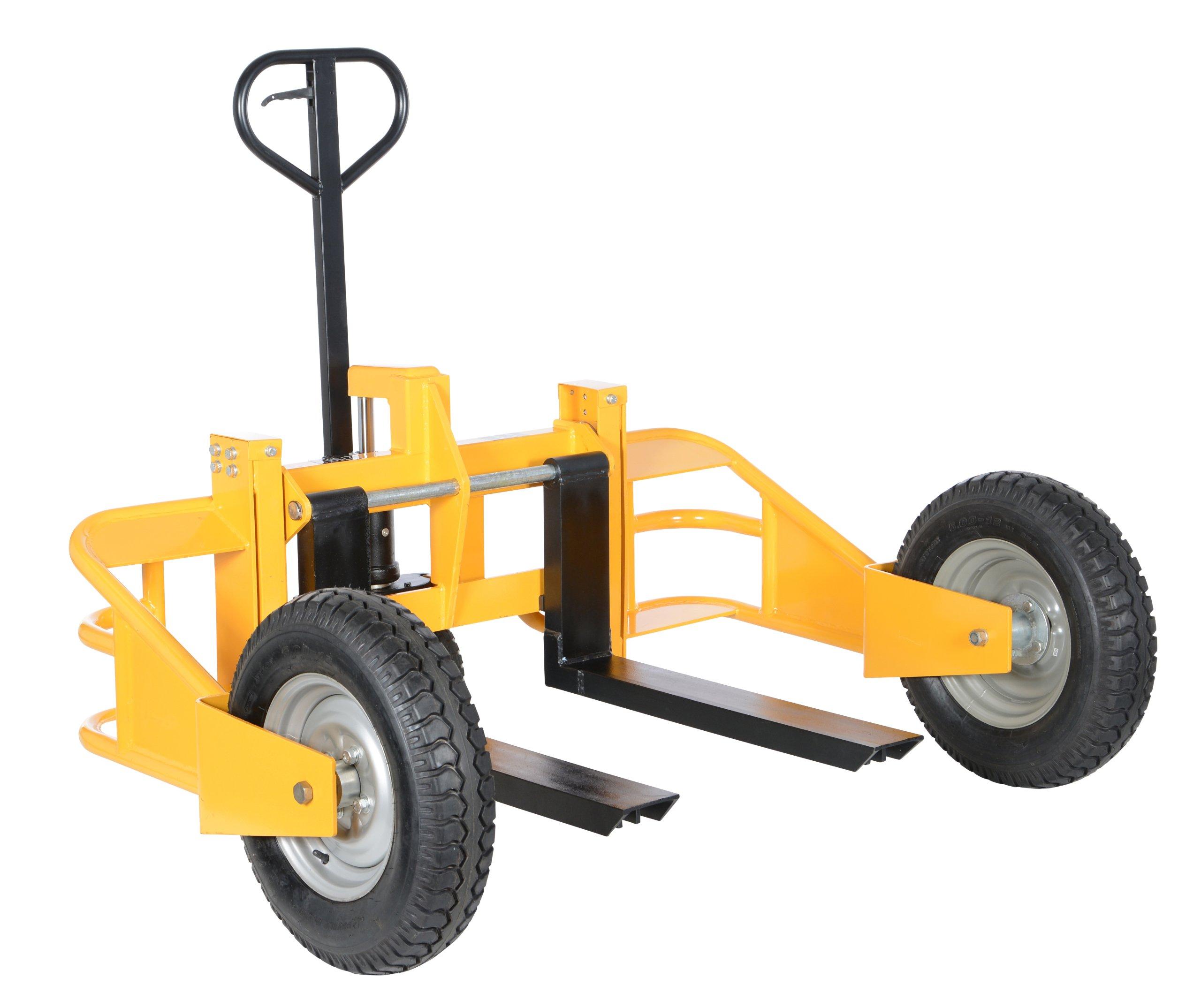 All terrain pallet truck abrasive planer