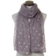 New Styles Lady Grey Navy Cat Foil Rose Gold Printing Glitter Scarf For Women
