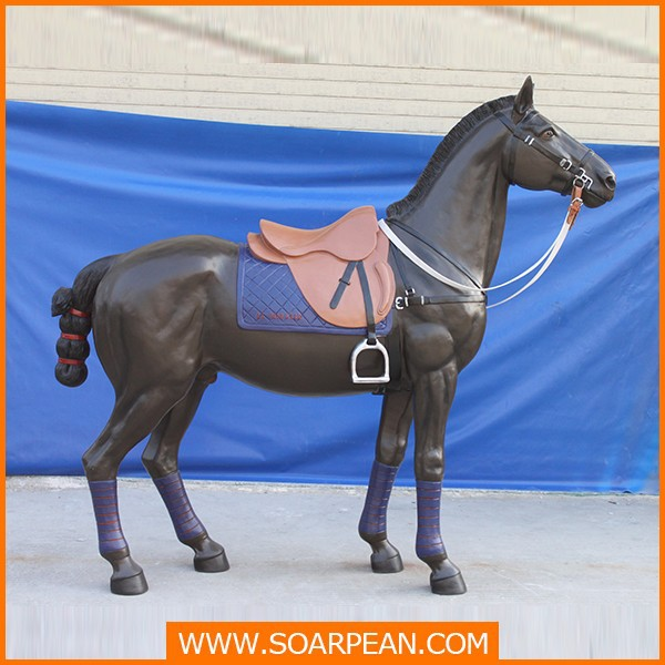 Personalizzati nuovo stile cavallo statua in vetroresina a for Piani di fattoria a grandezza naturale