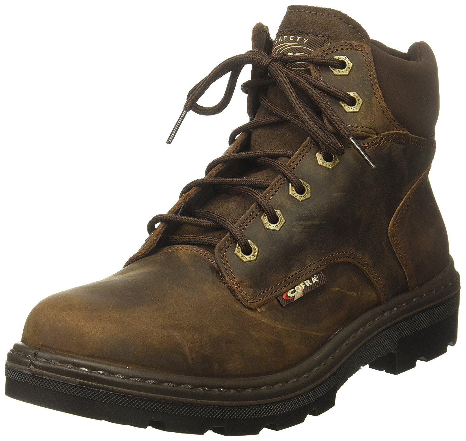 Cofra Wetland S3 Safety Steel toecap midsole Water resistant Black Lace up Boots