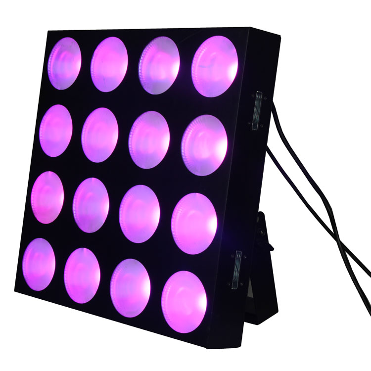 16pcs 10w 3IN1 LED matrix blinder pixel panel beam effect DMX512 Disco DJ stage lighting