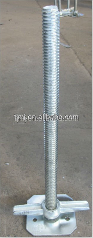 galvanized adjustable jack base/U-head nut/Solid/hollow