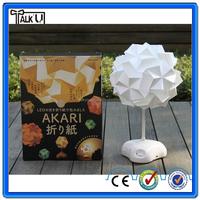 Colorful origami DIY led desk lamp/Innovative USB handmade paper table lamp