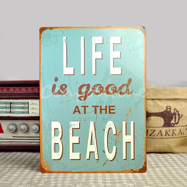 2015 New Tin Sheet Metal Sign BEACH Decor Bar Tavern Garage Vintage Picture LD093 Decor Home Wall Decor Garage home Wall Decor