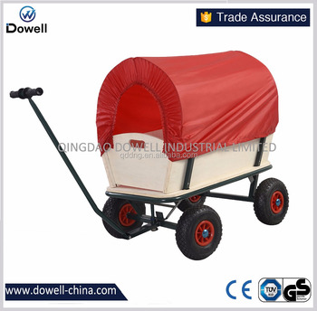 Four Wheel Kids Wagon With Canopy Wood Pull Cart Kids Garden Wagon Cart  Tc4203b   Buy Four Wheel Kids Wagon With Canopy,Wooden Kids Wagon,Kids  Garden ...