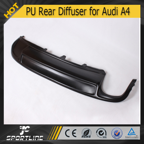 JC Sportline Dual Exhaust Single Outlet S4 Style Rear Diffuser for Audi A4 B8