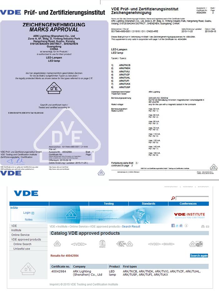 140LM/W 9W 0.6M VDE T8 LED Tube