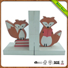 Kids gift painted animal fox design wood bookend for sale
