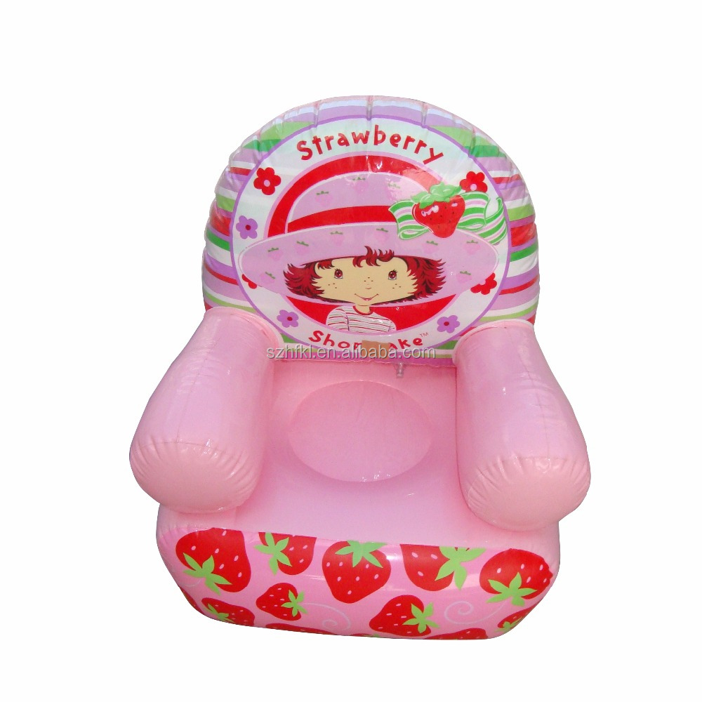 Strawberry Inflatable Chair Children's Room Sofa Kids Inflatable Toys