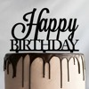 Colorful Popular Premium Lucite Laser Cut Acrylic Happy Birthday Cake Topper