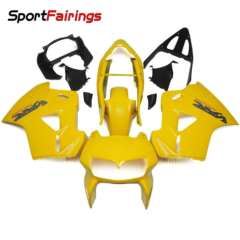 Sportfairings Complete Fairing Kits For Honda VFR800 VFR800Fi RC46 1998 1999 2000 2001 Fairings Full Cover Gloss Yellow
