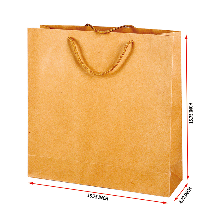 Manufactures printed logo custom wholesale paper gift bag for packaging