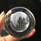 Customized souvenir gifts 3D laser engraved crystal glass ball with earth globe image inside