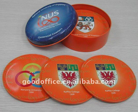 OEM Factory - tin coaster set ( 4 pcs / set )