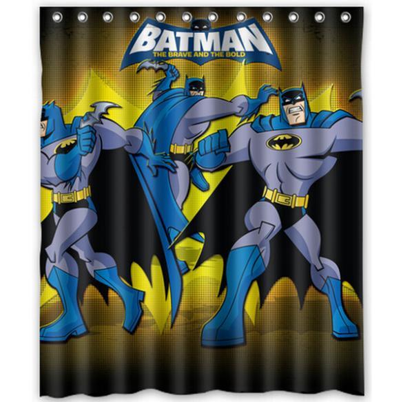Batman Bathroom Sign: Superhero Batman Home Decor Modern Shower Curtain Bathroom