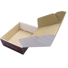 Reclyclble White Kraft Corrugated Paper Box for Food Packing