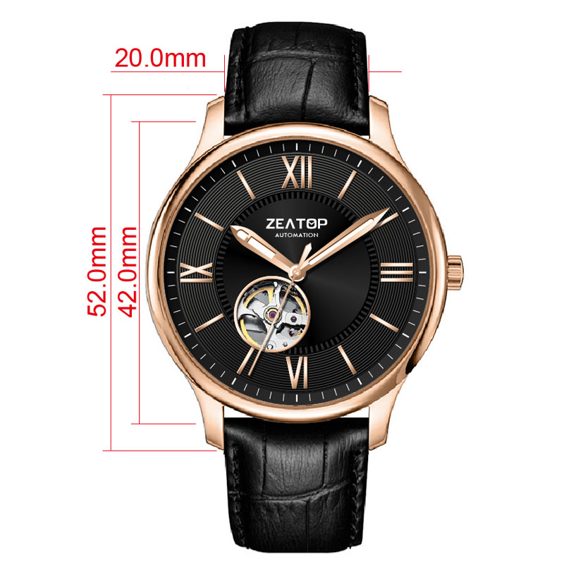 Zeatop Luminous Hands Mens Watches in Wristwatches