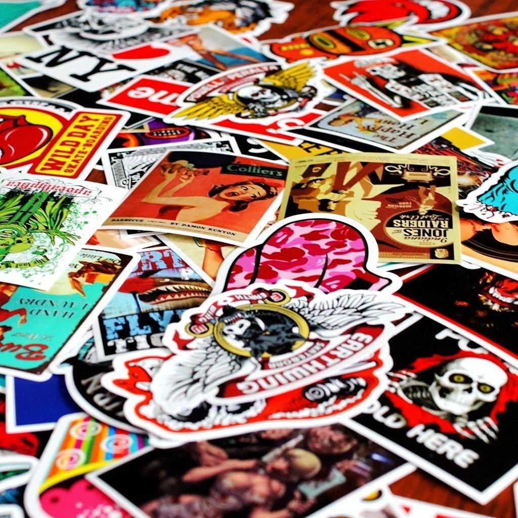 258stickers® Skateboard Vinyl Sticker 20 pcs - Mix of Skateboard Stickers