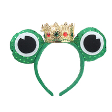Wholesale Prices Top Fashion Frog Prince Crown Party Supplies Headband