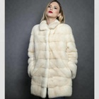 Top quality Sunlight Color Lush natural Mink fur jackets customized color By fur factory wholesale