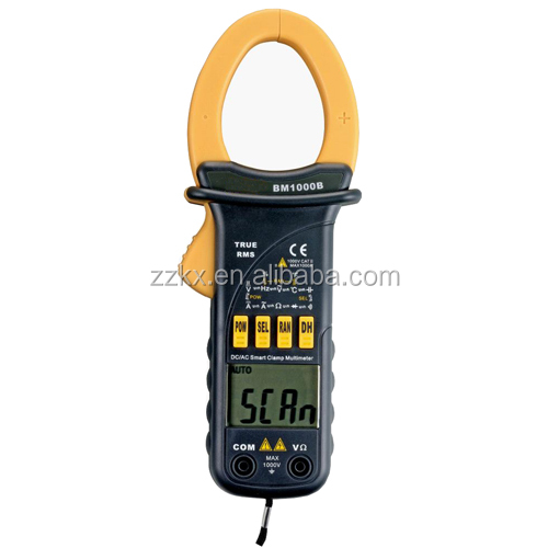 Auto Range 3 3/4 digit AC/DC TRUE RMS Smart Digital Clamp Meter 1000A With Resistance Capacitanc Frequency Hz Temp. Test BM1000B