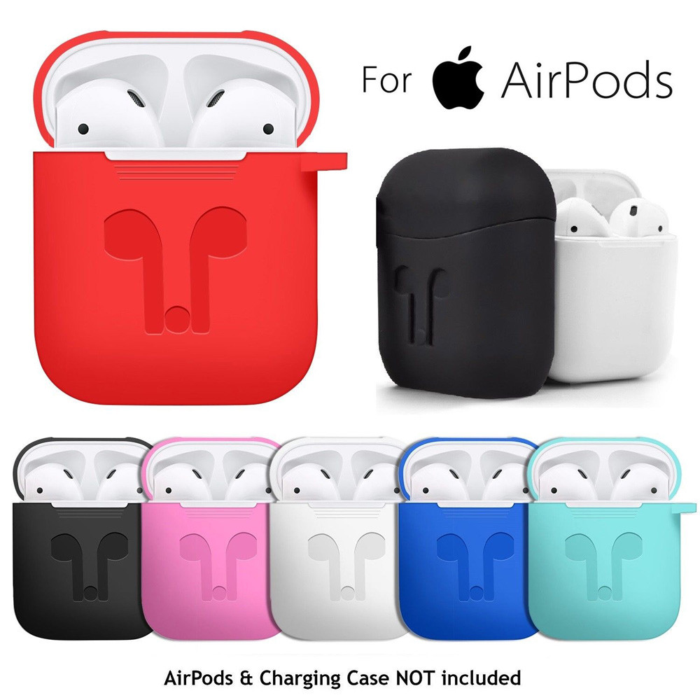 For AirPods Silicone Case Cover Protective Skin, For Apple
