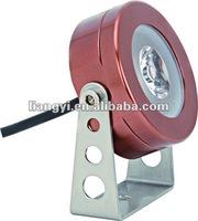 240V/120V/12V 1W/3W LED lens diffuser outdoor wall light fixture
