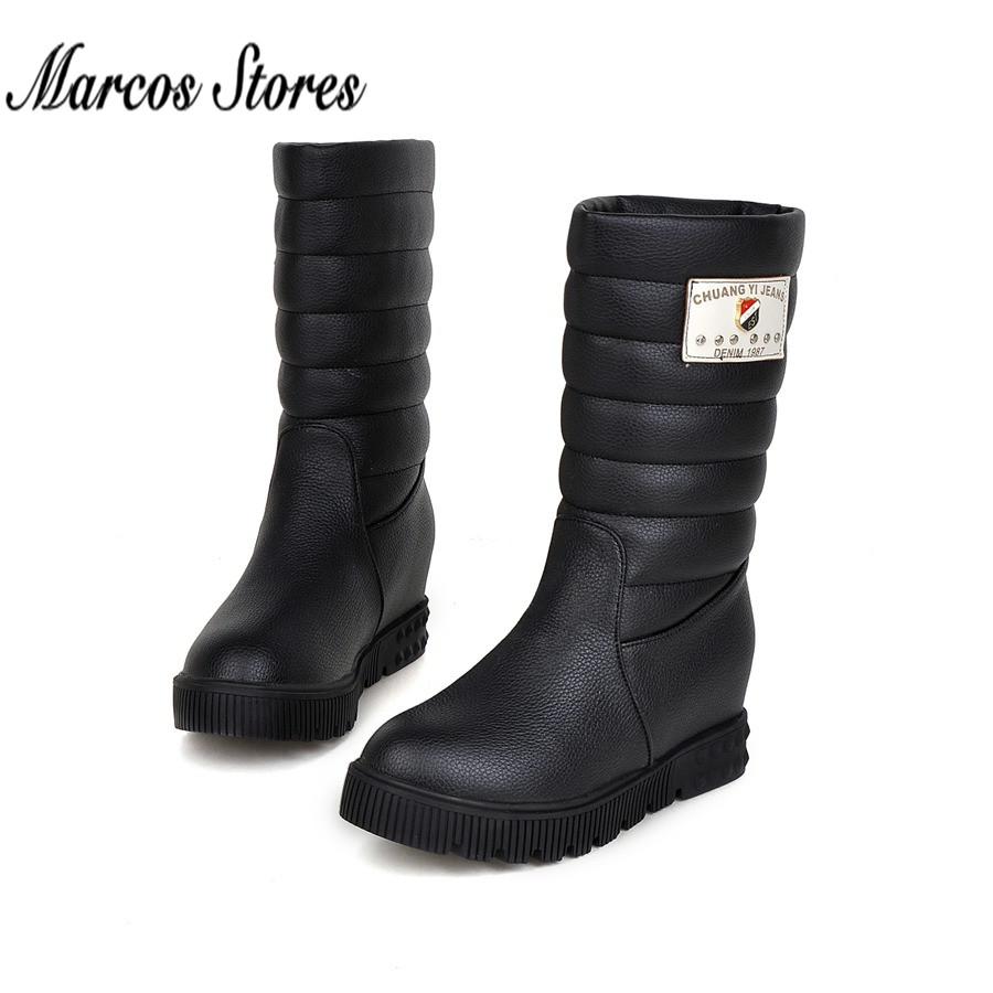 2015 Fashion Winter Boots PU Leather Women Knee High UG