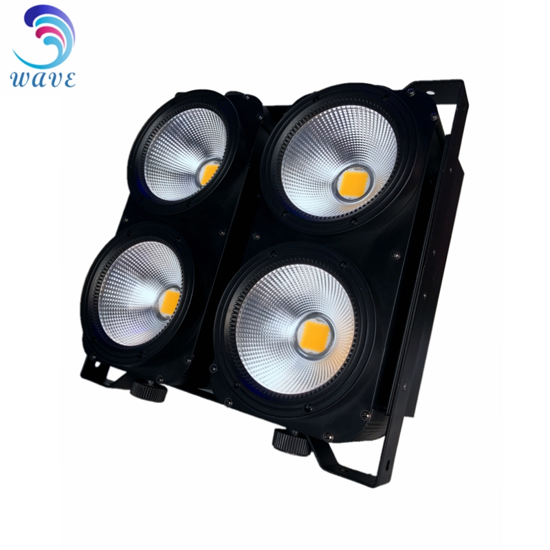 2in1 Warm White + Cool White 2*2 Matrix 4*100w Led Cob 4 Eyes Audience Blinder Effect