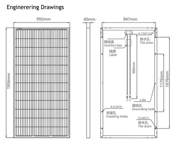 Industrial policristalino panel solar de 340 vatios de poli pv paneles solares de 350 vatios precio
