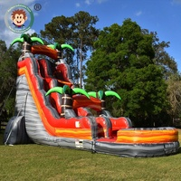 Commercial used adult giant slip n price kid playground outdoor titanic adults N kids boat pool water inflatable slide for sale