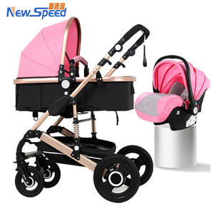 Promotion Luxury high landscape baby carrier/high view golden tube baby pram/big space 3 in 1 baby stroller for baby, toddler