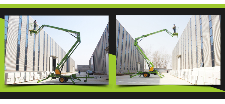 Custom 8m new petrol power anti-wind towable boom lift