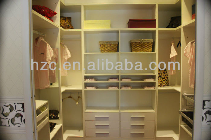 White solid wood wardrobe,