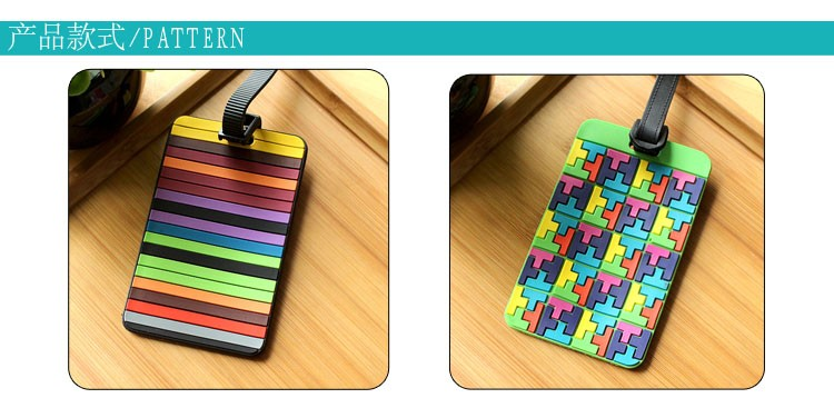 Colorful PVC travel Luggage Tag with custom package in high quality, Support wholesale customization