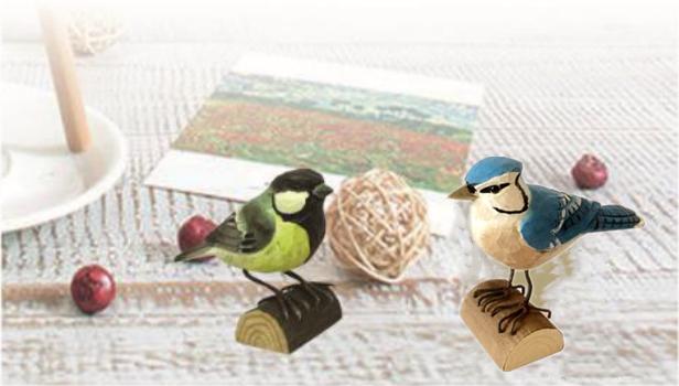 Kayu Dekoratif Robin Dekorasi Model Mainan Seni Pikiran Tangan