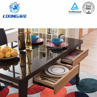 New Design Square Glass Top Kitchen Dining Table