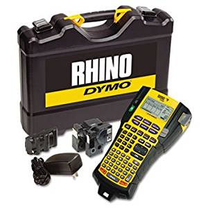 Rhino 5200 Industrial Label Maker Kit, 5 Lines, 4 9/10w X 9 1/5d X 2 1/2h