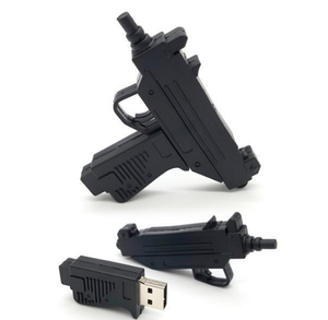 Factory 1 Dollar China Wholesale Customized Gun Shaped 1Gb 16 Gb Usb 2.0 Flash Drive Pvc Custom Design Logo 4Gb 128Gb Pen Drive